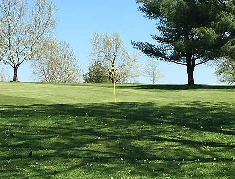 A view of a hole at Higginsville Country Club.