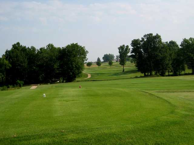 A view from a tee at Heritage Hills Golf Course.