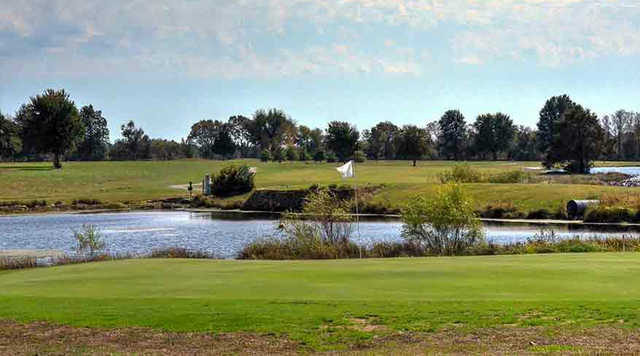 A view of a green at Frank E. Peters Golf Course (James E Cornwell).