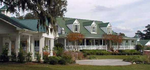A view of the clubhouse at Legend Oaks Golf Club