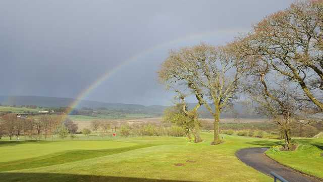 Rainbow over the 18th at Lisheen Springs Golf Club
