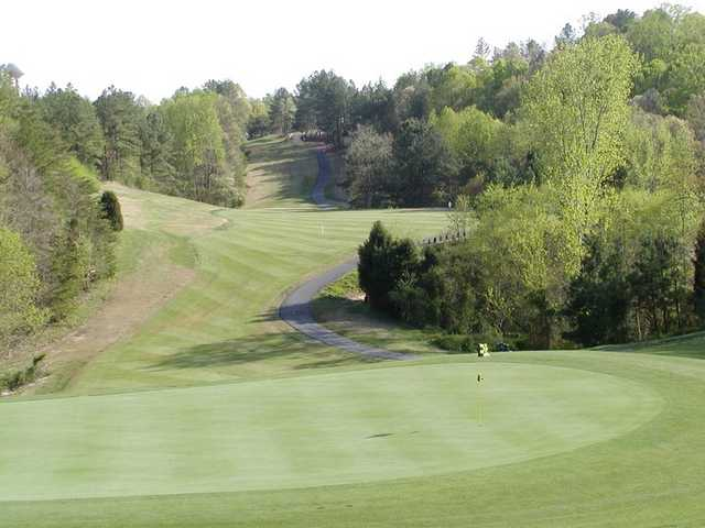A view of the 5th hole at Pines from Tega Cay Golf Club
