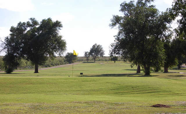 A view of a green at Jal Country Club.