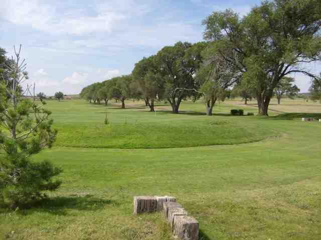 A view of a hole at Tucumcari Golf Course.