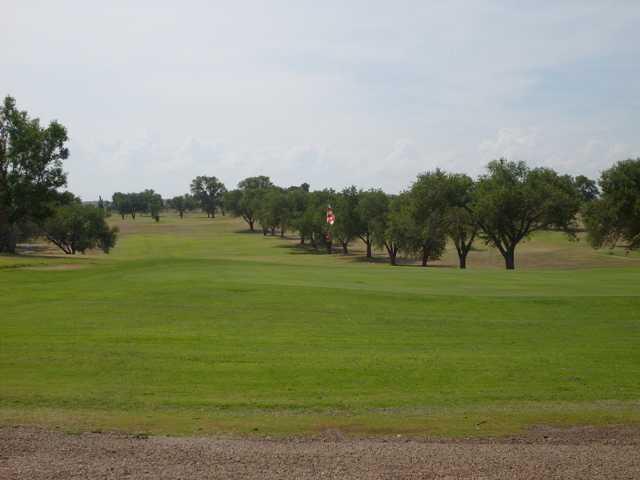 A view of a green at Tucumcari Golf Course.