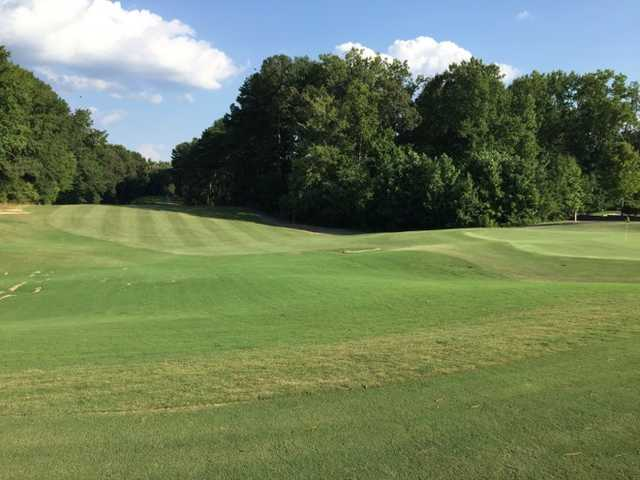 View of the 9th green at Collins Hill Golf Club