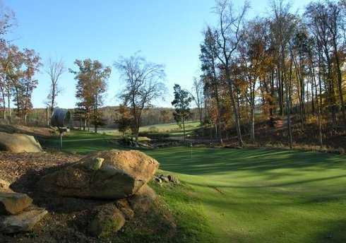 A view of green #13 at Tot Hill Farm Golf Club