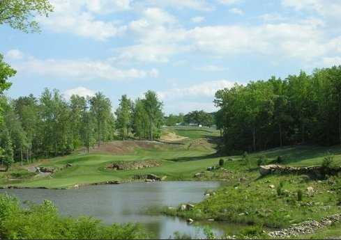 A view of the 12th and 10th greens from tee #12 at Tot Hill Farm Golf Club
