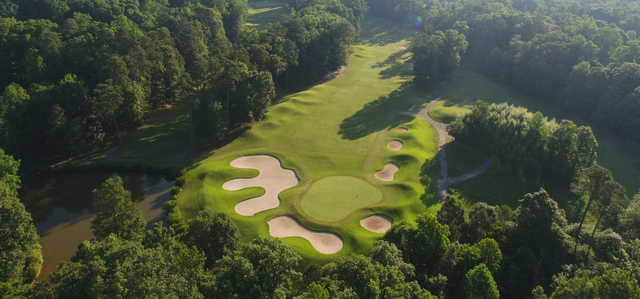 Aerial view from Golden Horseshoe Golf Club