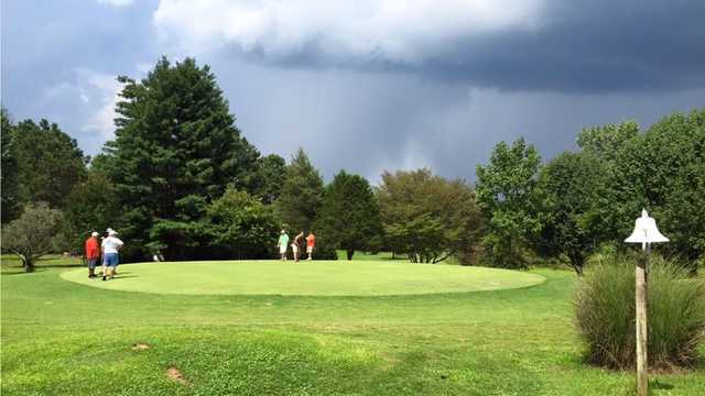 A view of a green at Lakehaven Golf & Country Club.