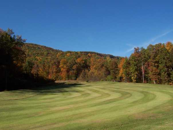 A view of a fairway from Hidden Falls at Mt. Airy.