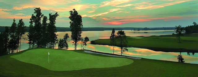 View of the 12th hole from the 4th green at Heron Bay Golf & Country Club