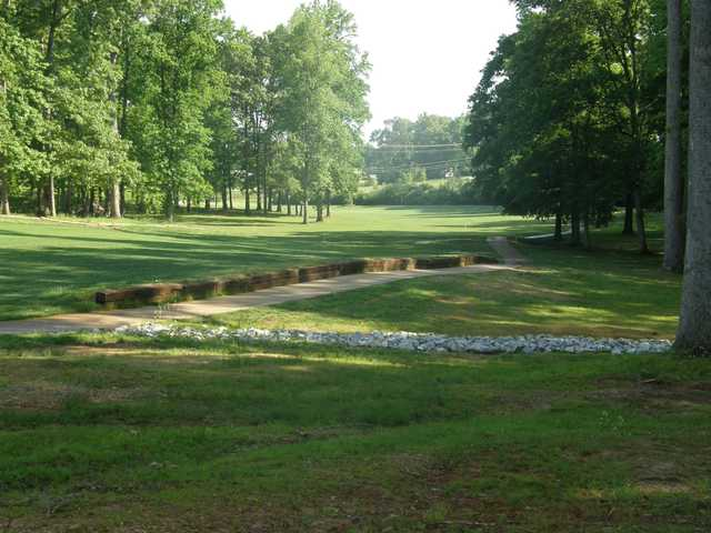 A view of a fairway at Lawrenceburg Golf & Country Club.