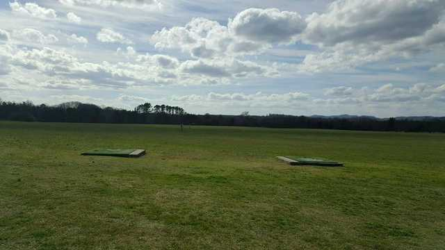 A view of the driving range at Madisonville Golf Course.