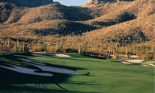 A view of the 14th green at Arizona National Golf Club.