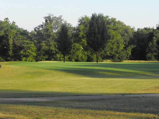 A view of a green at Persimmon Hills Golf Course.