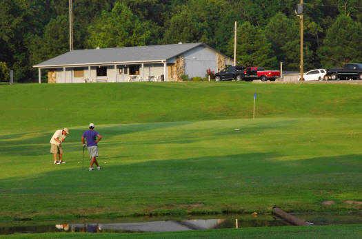 A view of a green at Waynesboro Golf Course.