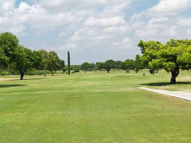 A view of fairway #2 at Desert Oaks Golf Course.