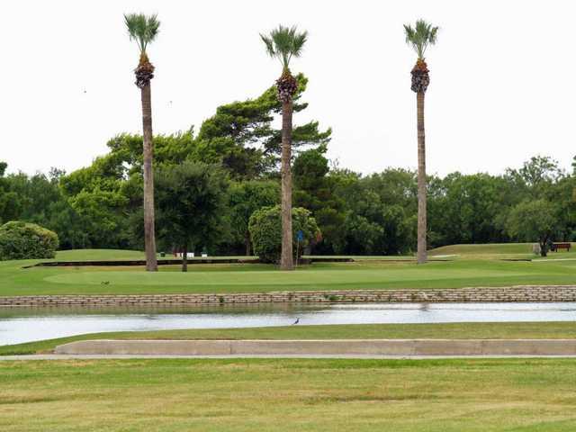 A view of green #3 at Desert Oaks Golf Course.