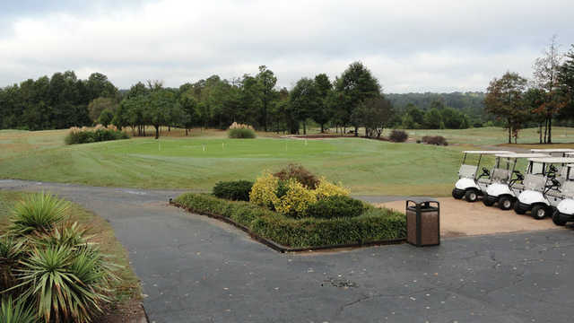 A view of the practice area at Charles T. Myers Golf Course