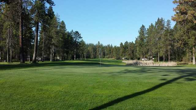 A view of a green at Chewelah Golf & Country Club.