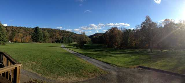 A view of a fairway at Valley View Country Club.