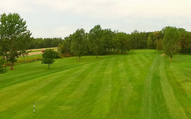 A view of fairway #4 at Whispering Pines Golf Course.