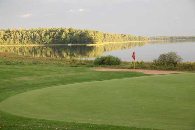 A view of a green from Voyager Par Three at Voyager Village Country Club.