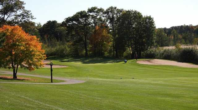A fall day view of a hole from Voyager at Voyager Village Country Club.