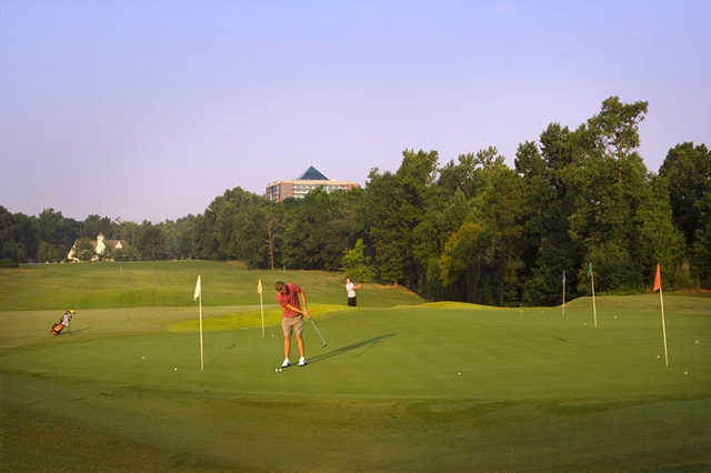 A view of the putting green at Rocky River Golf Club - Concord