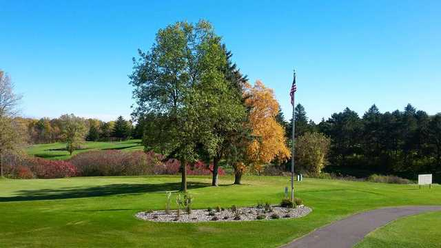 A fall day view from Ellsworth Country Club.