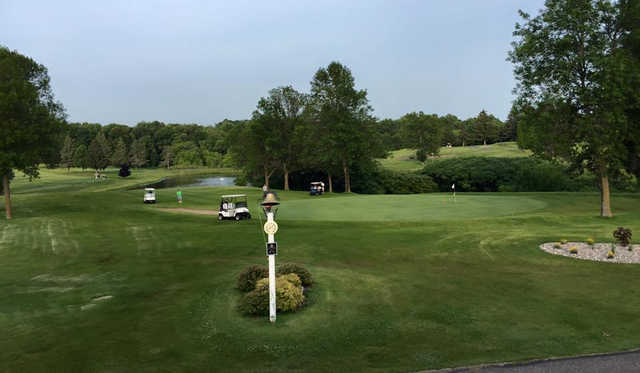 A view of a green at Ellsworth Country Club.