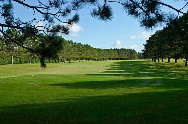 A view of a tee at Spider Lake Golf Resort.