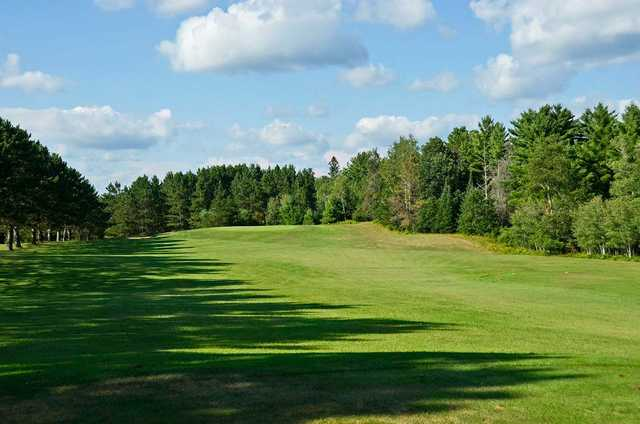 A view from a tee at Spider Lake Golf Resort.