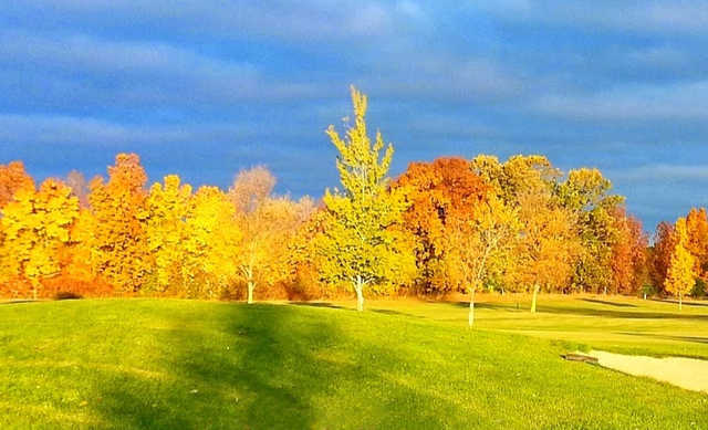 A fall day view from Lake Breeze Golf Club.