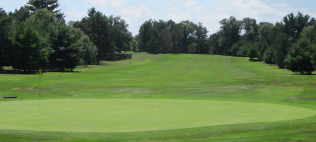 A view of a green at Tri-City Golf Course.