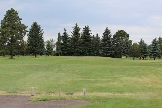 A view of a hole at Airport Golf Course.