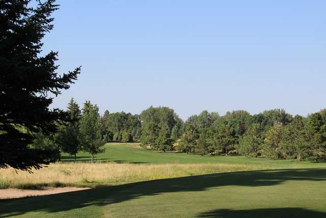 A view of a fairway at Airport Golf Course.