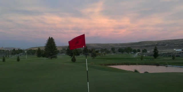 A view from a green at Rolling Green Country Club.