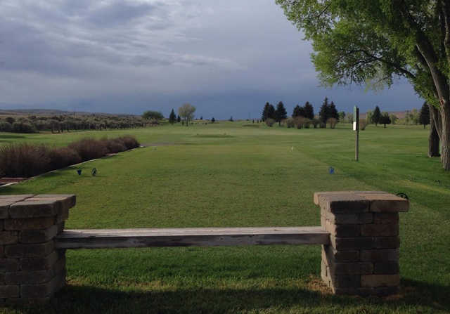 A view of a tee at Rolling Green Country Club.