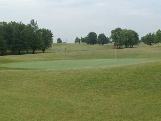 A view of a green at Chesley Oaks Golf Club.