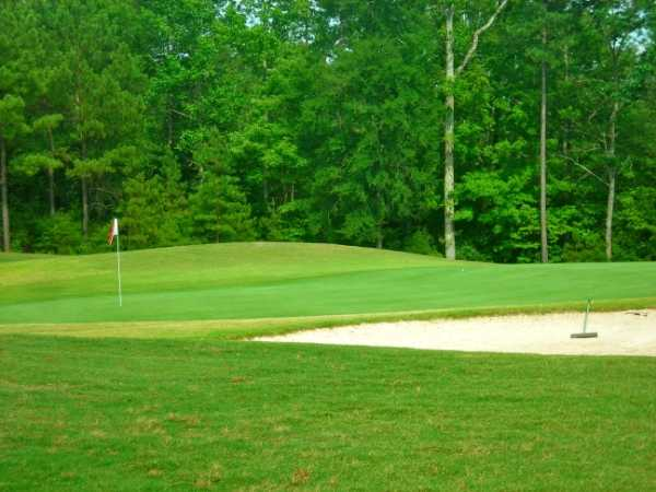 A view of the 17th green at Falls Village Golf Course