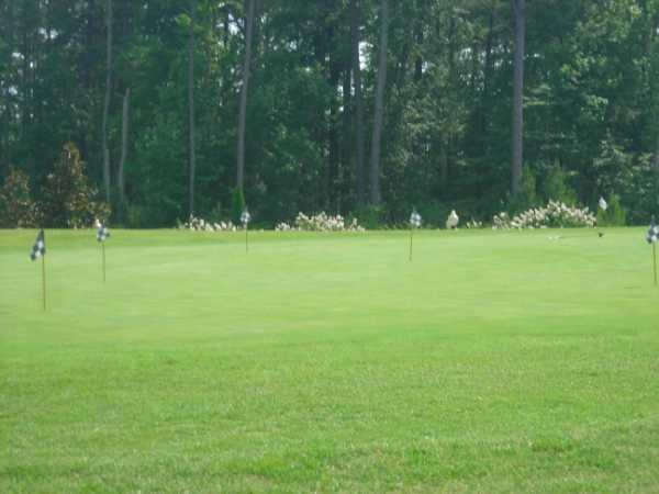A view of the practice putting green at Falls Village Golf Course