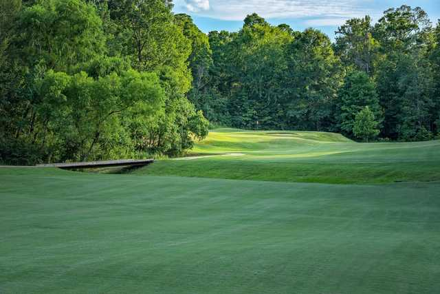 A view of a hole at Calvert Crossing Golf Club.
