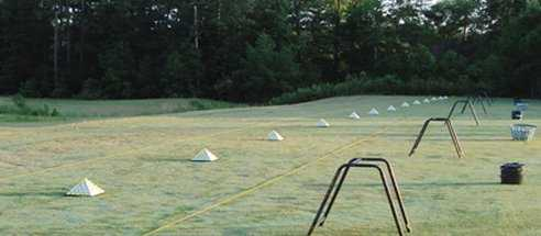 A view of the driving range at King's Grant Golf & Country Club
