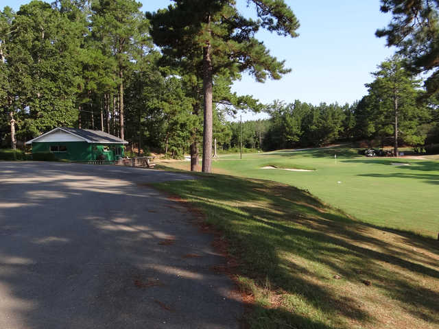 A view of a hole at Bay Springs Country Club.
