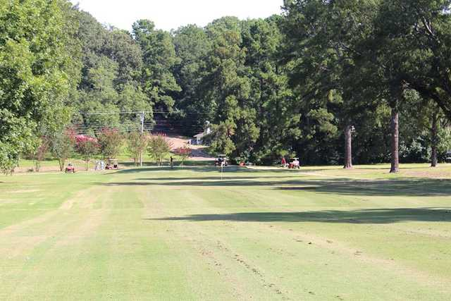 A view of a hole from Lion Hills Golf Course at East Mississippi Community College.