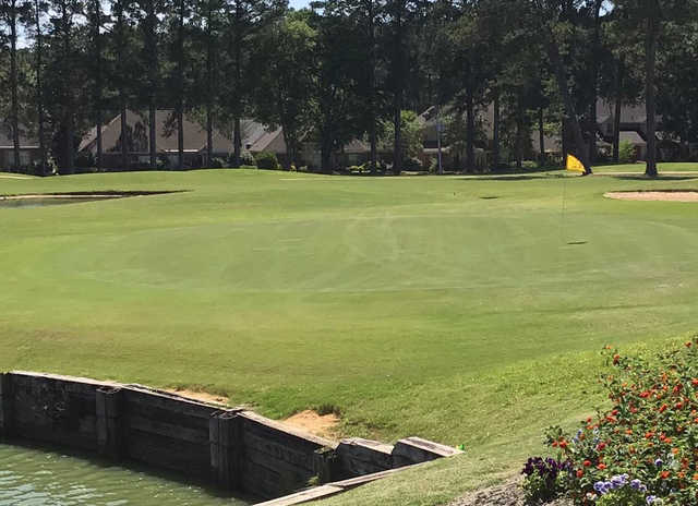 A view of green #9 from Lion Hills Golf Course at East Mississippi Community College.