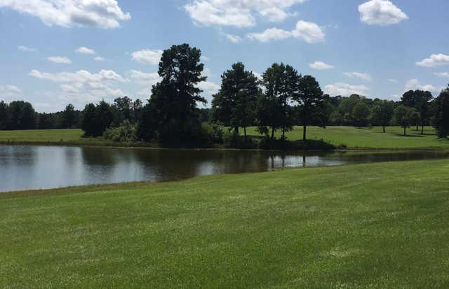 A view over the water from Whispering Pines Golf Club.