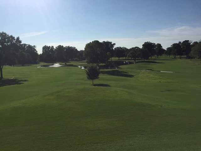 A sunny day view from Hillandale Country Club.
